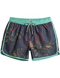 MaaMgic Bañador Hombre de Natación Secado Rápido Interior de Malla Pantalones Cortos d\'Aire Vintage 80s 90s