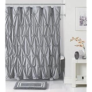 Luxury Home 14-Piece Fiona Bath Set, Grey