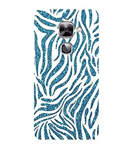 HiFi Designer Phone Back Case Cover Letv 2 :: LeEco Le 2s :: LeEco Le 2 Pro :: LeTV 2 Pro :: LeEco Le 2 ( White and Blue Tiger Print )