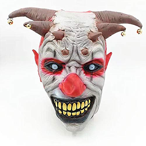Jonist Evil Hair Clown Latex Maske, Halloween, Pennywise Maske, Haunted House Kostüme Spiel Masquerade Party Arrangement Requisiten, - House Party Kostüm