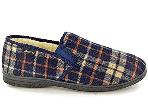 Foster Footwear Chaussons garçon mixte adulte homme femme Bleu marine/multicolore