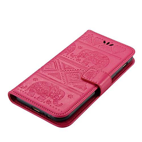 Für Samsung Galaxy A5 2017 Premium Leder Schutzhülle, weiche PU / TPU geprägte Textur Horizontale Flip Stand Case Cover mit Lanyard & Card Cash Holder ( Color : Red ) Red