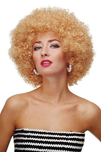 WIG ME UP ® - PW0011-P70 Perücke Afroperücke Afro 70er Jahre Party Partyperücke Funk Funky Disco Foxy Goldblond