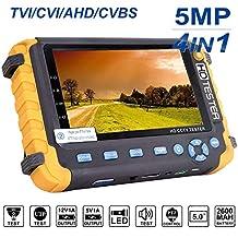 Probador de CCTV 5 en 1 de 4 pulgadas, probador de monitor de video HD