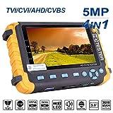 4 in 1 CCTV-Tester, 5MP AHD/TVI/CVI/CVBS-HD-Videomonitortester, analoger Video-/UTP-Kabeltest/PTZ-Controller, VGA/HDMI-Eingang, DC12V-Ausgangskamera-CCTV-Tester