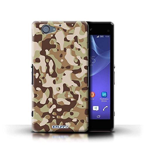 Kobalt® Imprimé Etui / Coque pour Sony Xperia A2 / Marron 4 conception / Série Armée/Camouflage Marron 3