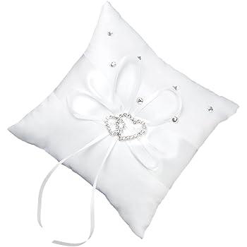 Amazon De Hochzeit Ringkissen Ehering Kissen Mit Satinband For