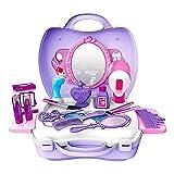 Kinder Kosmetik-Set Schminkset Schminksachen Schönheit Prinzessin Mädchen Koffer Rollenspiel Spielzeug Geburtstag Geschenk für Kinder