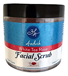 Aadvik Camel Milk Facial Scrub 100 gms. pack ( White Tea Rose )