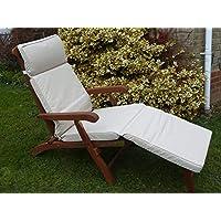 Mobili da giardino cuscino–cuscino beige per una sedia a sdraio