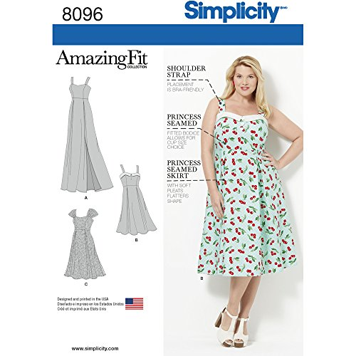 Simplicity Amazing Fit Plus Size Dress Sewing Pattern, Paper