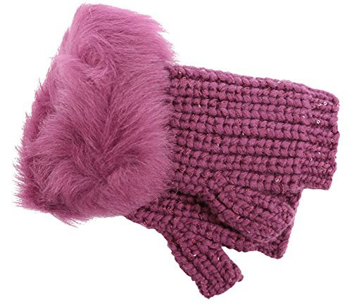 UGG Women's Crochet Gloves w/ Lurex/Sequins/Toscana Trim Bougainvillea Multi One Size