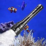 Volador Diving Flashlight, 3100 Lumen Diving Torch Rechargeable, 3* CREE XPL LED Scuba