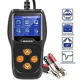 KONNWEI KW600 - Tester Professionale per Batteria da 12 V, 100 - 2000 CCA 220 AH, analizzatore e Tester alternatore per Auto/Barca/Moto