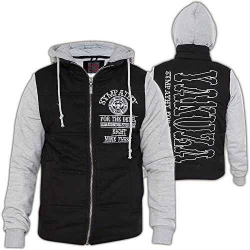 Yakuza Jacke Sympathy WJB-7050 Schwarz/Grau Black/Grey