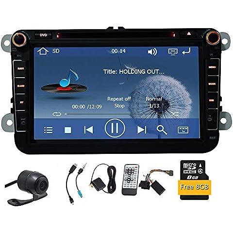 2 din navigazione di GPS dell'automobile di navigazione DVD GPS Stereo 8 pollici per VW (Regolatore Della Finestra Guida)