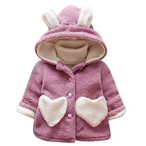 Rosennie Herbst Winter Mädchen Baby Strickjacken Oberbekleidung Ente Cartoon Warme Weste Mantel Winter Jacke Baby Kinder Kleidung Winterjacke Outerwear Hemd Bluse mit Kapuze (Lila,5)