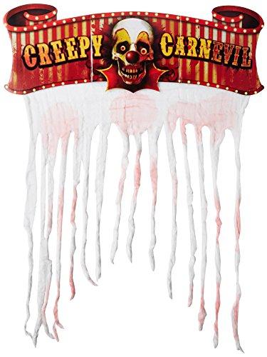 Preisvergleich Produktbild Amscan International 240148 Türschmuck Creepy Carnival,  gruseliges Motiv,  Pappschild mit Gazestreifen,  96, 5 x 137 cm