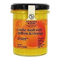 Delicious & Sons - Garlic Aioli with Saffron Orange 6.35 Oz. 182347