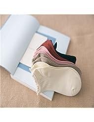 Superior ZRL 5 paires Pack bambou fibre dentelle Mesdames chaussettes