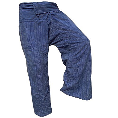 PANASIAM Fishermannhose: Lin, in Navy-Blue, XL (Wolle Navy Pant)