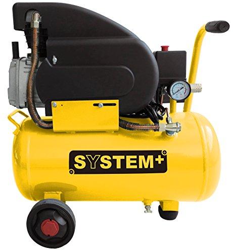 Compressore d'aria lubrificato ad olio da 24 Litri 1.500 Watt 8 bar SYSTEM+
