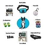 The Woof Whisperer Anti Bark Dog Collar Small Medium Large Dogs STOP BARKING No Shock Vibration Sound Training Collar… 8