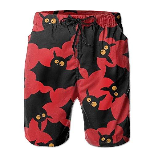 New Halloween Bats Herren Badehose Sommeranzug mit Taschen (Halloween-aktivitäten Für Kleinkinder Zu Hause)
