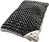 R&Z Luxury Large & Extra Large Luxury Fur Dog Bed Cushion Washable Zipped Mattress complete bed (Large, Spiral Black)