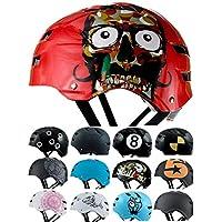 Skullcap® Casco BMX - Casco Skate - Casco Bici, Dirt Bike, Rojo Mate, Talla M, Red