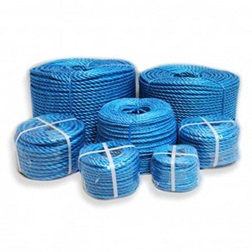 POLYPROPYLENE ROPE 6MM X 50 METERS BLUE Polyrope, Polypropylene, Polyprop Test