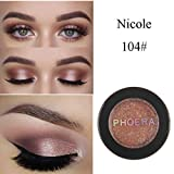 Lidschatten, FEITONG Make-up Metallische Glänzende Augen Lidschatten Wasserdichte Glitter Lidschatten #04