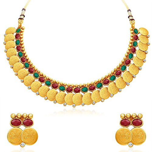 South Indian Traditional Wedding Jewellery Set Gold Plated Temple Jewellery Necklace Set for Women Designer Heavy Ethnic Jwellery Set