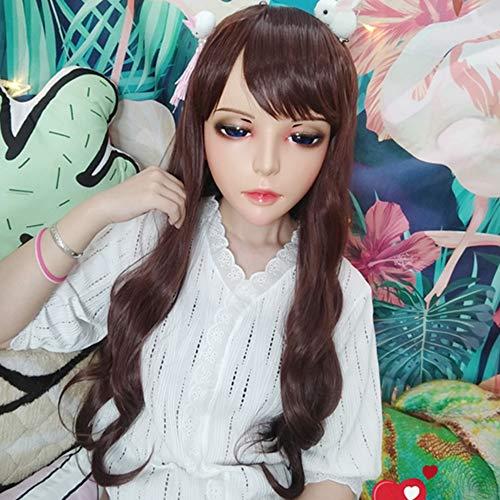 Novelty & Special Use female Sweet Girl Resin Half Head Kigurumi Bjd Mask Cosplay Japanese Anime Role Lolita Mask Crossdress Doll Mask Delicious In Taste tao