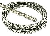 Eloja Set 3 m Spiralfedern und 30 Endkappen Korsettstäbe Korsett Stäbe, 5 mm