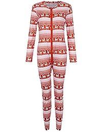 Conjunto de Pijamas Familiares de Navidad - Ropa Familiar a Juego para la Familia Padre Madre Niño Bebe Monos con Cremallera Blusa Pantalones Manga Larga Impresión de Rayas Gusspower