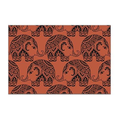yyoungsell - Mantel Individual Lavable, fácil de Limpiar, diseño de pájaros arcoíris, para Mesa de Cocina, Resistente al Calor, 30,5 x 45,7 cm