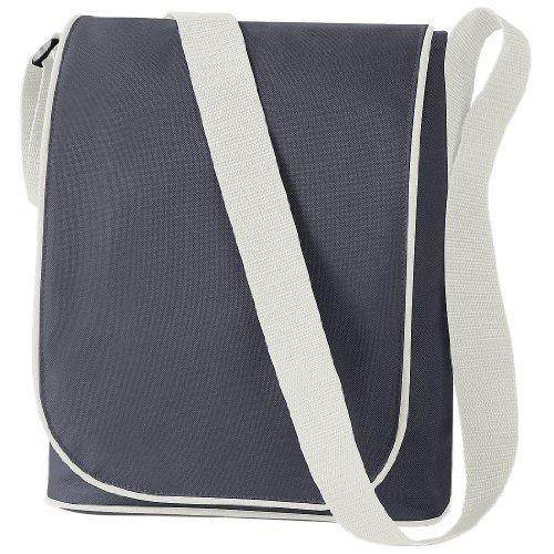 BagBase Umhängetasche für iPad, erhältlich in 4 Farbkombinationen Graphite Grey / Oyster Grey