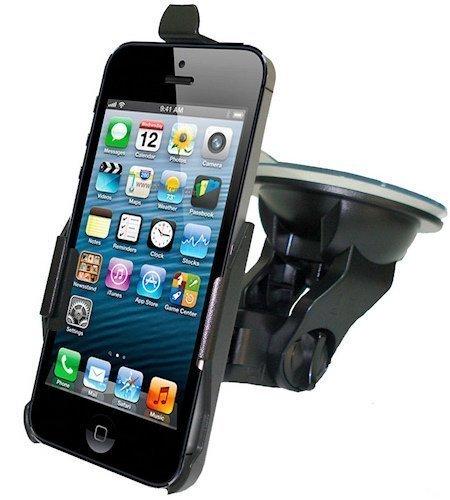Haicom HI-228 Coche Negro - Soporte (Teléfono móvil/smartphone, Coche, Negro, Apple iPhone 5)