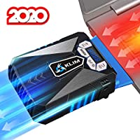 KLIM™ Cool – Refrigerador para Ordenador Portátil – Ventilador de Alto Rendimiento para Una Rápida Refrigeración, Aspiradora de Aire USB, Azul [Nueva Versión 2020 ]