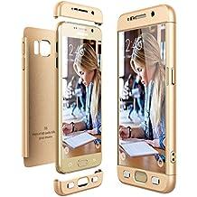 Funda Samsung Galaxy S6, CE-Link Carcasa Fundas para Samsung Galaxy S6, 3 en 1 Desmontable Ultra-Delgado Anti-Arañazos Case Protectora - Oro