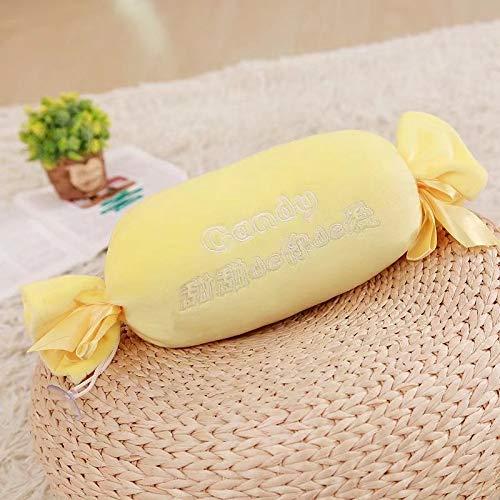 Essen Plüsch Kissen Kissen Plüschtier Kissen lustigMacarons Aromatherapie Candy Kissen Gelb 30cm ()