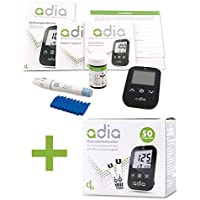 Preisvergleich für adia Starter-Set [mg/dl] mit 60 Blutzuckerteststreifen