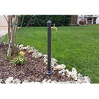 Fuente a columna de hierro fundido y acero con grifo para casa jardín exterior modelo Erice