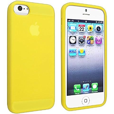 Gadgets World–Soft Gel de silicona funda de protectora de piel de goma para Apple Iphone 5S 5G & iPhone 5+ gran Stylus Touch Pen., compatible con Apple iPhone 5/Apple iPhone 5S