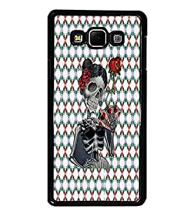 PrintDhaba Skeleton D-3545 Back Case Cover for SAMSUNG GALAXY E7 (Multi-Coloured)