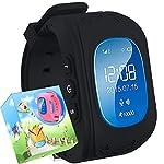 uhr für Kinder,TURNMEON® intelligent uhr mit GPS WIFI Anti-lost Tracker Smart watch Handy mit SIM SOS Armband für Smartphone (schwarz)