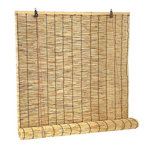 Anheben der Vorhänge Reed Vorhänge Jalousien Stroh Vorhänge Partitionen dekorative Retro Sonnenschutz Rollos anpassbare Größe (Reed Jalousien)