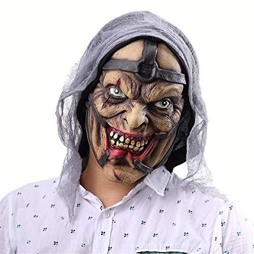 Horror Zauberer Männliche Maske Latex Material Rollenspiele Böse Maske Packung Party Unheimlich Schal Kopf Set Zombie Halloween Haunted House Heikle Maske Cos Dedicated Requisiten Lustiges Kostüm Haun (Männer Böse Zauberer Kostüm)