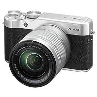 فوجي فيلم X-A10 - 24.3 ميجابكسل كاميرا رقمية ميرورليس مع عدسة اكس سي 16- 50 ملم F3.5-5.6 II او ي اس، فضي